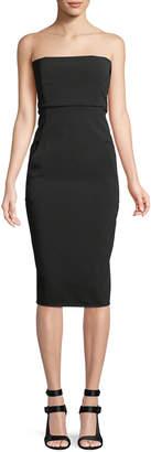 Rick Owens Strapless Body-con Midi Dress