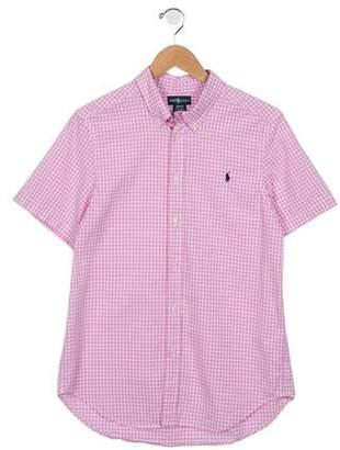 Ralph Lauren Boys' Gingham Short Sleeve Shirt