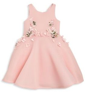 David Charles Toddler's & Little Girl's Floral Mesh Fit-&-Flare Dress $335 thestylecure.com