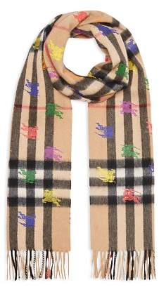 Burberry Knight Giant Check Cashmere Scarf