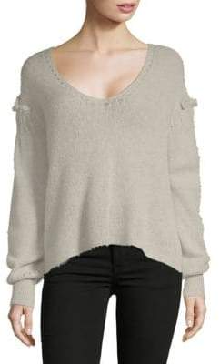 Wildfox Couture Ruffled V-Neck Sweater