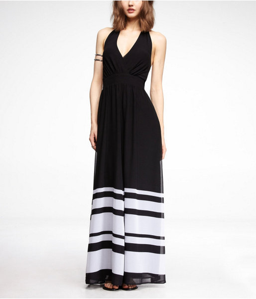 Express Chiffon Halter Maxi Dress