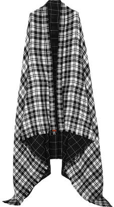 MELT - Kalpita Fringed Tartan Cotton Wrap - Black