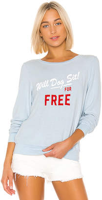 Wildfox Couture Dog Sit Baggy Beach Sweatshirt