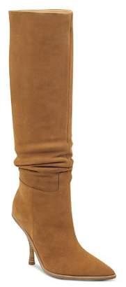 Sigerson Morrison Women's Halie Suede Over-the-Knee High-Heel Boots