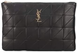 Saint Laurent Jamie leather clutch