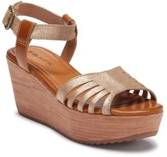 Trask Helen Leather & Suede Platform Wedge Sandal