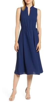 Anne Klein Drawstring Waist Midi Dress