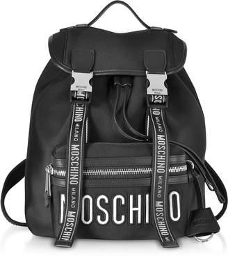 Moschino Black Signature Backpack