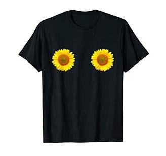 Sunflower Boobs Shirt Funny women Summer T-Shirt