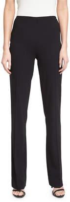 Ralph Lauren Alandra Side-Zip Stretch-Wool Pants, Black