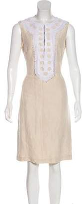 Tory Burch Eyelet-Trimmed Knee-Length Dress