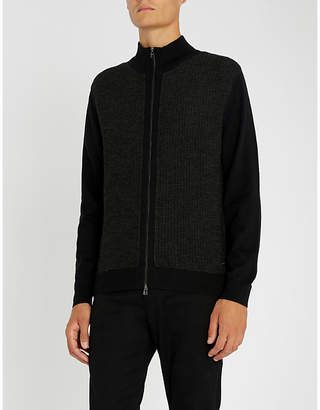 BOSS Funnel-neck wool jumper