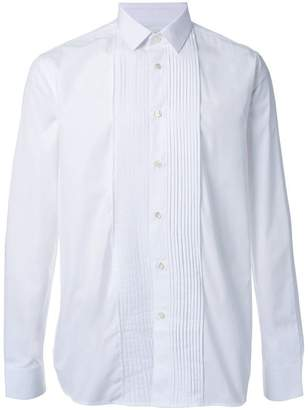 Saint Laurent pleated placket long sleeve shirt