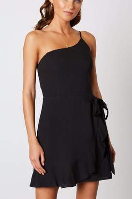 Cotton Candy One-Shoulder Ruffle Dress