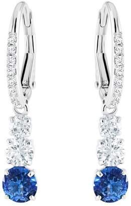 Swarovski Attract Trilogy Sapphire Crystal Drop Earrings