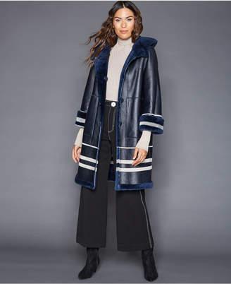 The Fur Vault Reversible Shearling Lamb Coat