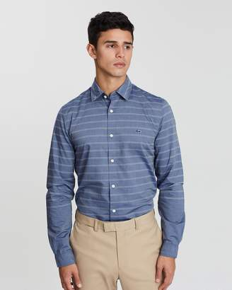 Lacoste Slim Fit Placed Stripe Shirt