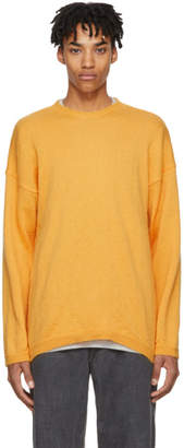 Our Legacy Orange Mohair Popover Sweater