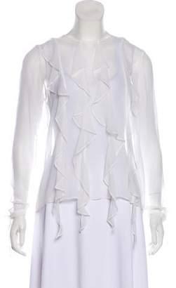 Thomas Wylde Ruffled Silk Blouse