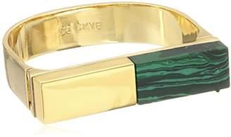 CC Skye Malachite Platform Statement Cuff Bracelet