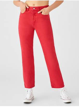 DL1961 Jerry High Rise Vintage Straight   Outlaw Red