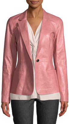 Lafayette 148 New York Nikala Glazed Lambskin Jacket
