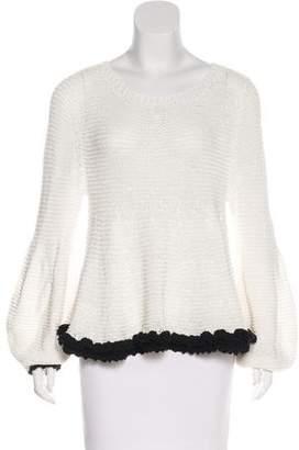 Apiece Apart Crochet Long Sleeve Top w/ Tags