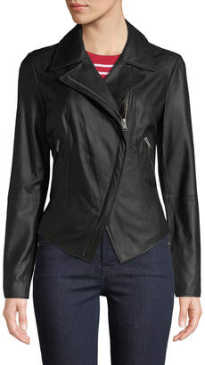 Andrew Marc Bayside Lightweight Leather Moto Jacket