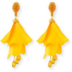 Oscar de la Renta Impatiens Flower Drop Earrings $425 thestylecure.com
