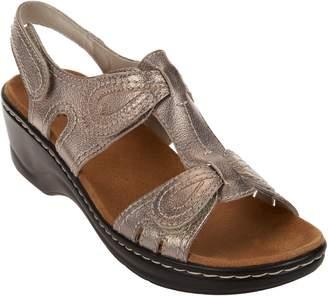 Clarks Leather Sandals w/Adjustability - Lexi Walnut