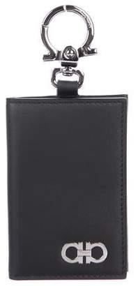 Salvatore Ferragamo Gancini Leather Cardholder Keychain