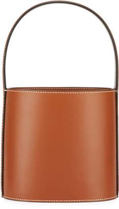 Staud Bissett Smooth Leather Top-Handle Bucket Bag - Saddle