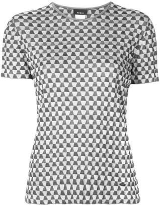 Akris patterned crew neck T-shirt