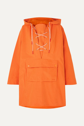 Barbour Alexachung Pip Lace-up Waxed-canvas Jacket - Orange