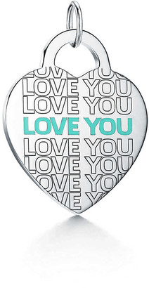 "Tiffany & Co. Return to TiffanyTM ""Love You"" heart tag charm in sterling silver, large"