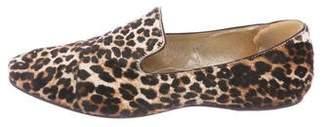 Jimmy Choo Leopard Print Ponyhair Loafers
