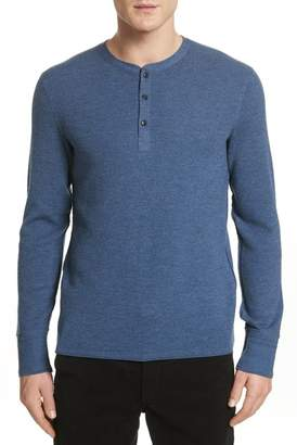 Rag & Bone Gregory Merino Wool Blend Thermal Henley