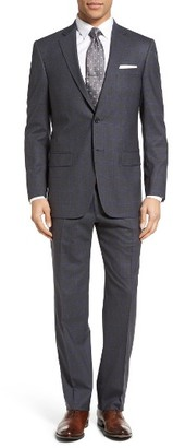 Men's Hart Schaffner Marx Classic Fit Plaid Wool Suit $895 thestylecure.com