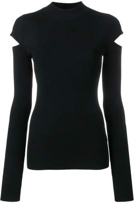 Helmut Lang cut-out detail sweater