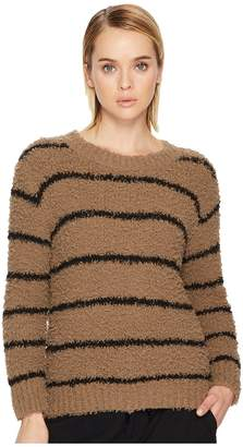 Vince Fuzzy Striped Crew Women's Clothing