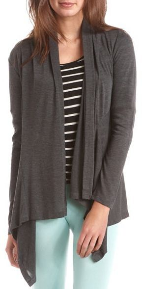 Charlotte Russe Open-Front Draped Cover-Up