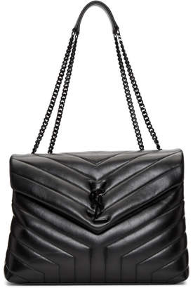 Saint Laurent Black Medium Loulou Chain Bag