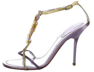 Rene Caovilla Beaded-Embellished High Heel Sandals
