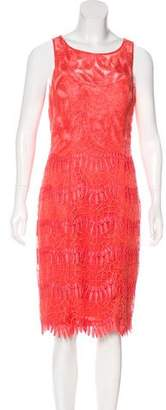 Sue Wong Embroidered Shift Dress