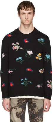 Gucci Black Embroidered Sweater $1,690 thestylecure.com