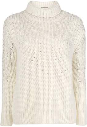 Ermanno Scervino roll neck knit jumper