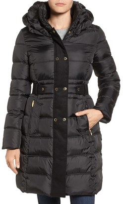 Women's Via Spiga Belted Puffer Coat $228 thestylecure.com