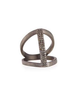 Siena Jewelry Vertical Diamond Bar Ring, Size 6.5