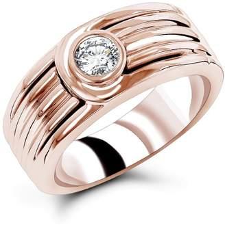 14k Gold Men's Diamond Wedding Band 0.25ct Ring